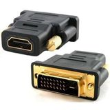 DVI 24+1 (DVI-D) Male to HDMI Female Adapter
