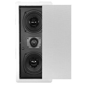 New Dual Woofer In Wall Surround Sound HD Home Theater Round Glass Fiber Center Channel Speaker TSLCR5