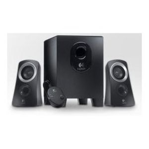 Logitech, Inc Products - Speaker System, 25 Watts, 1 Subwoofer, 2 Satellite Speakers, BK