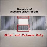 "Skirt and Valance Panels Size: 12"" x 50"", Color: Poly-Knit Black"
