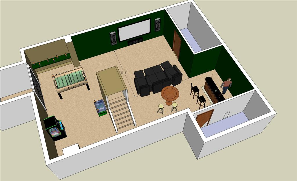 LL Need advice on basement layout layouts