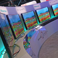All the Korean and Chinese TV manufacturers, including Hisense, showed off curved screens.