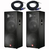 jbl jrx125 x2 pack with cables