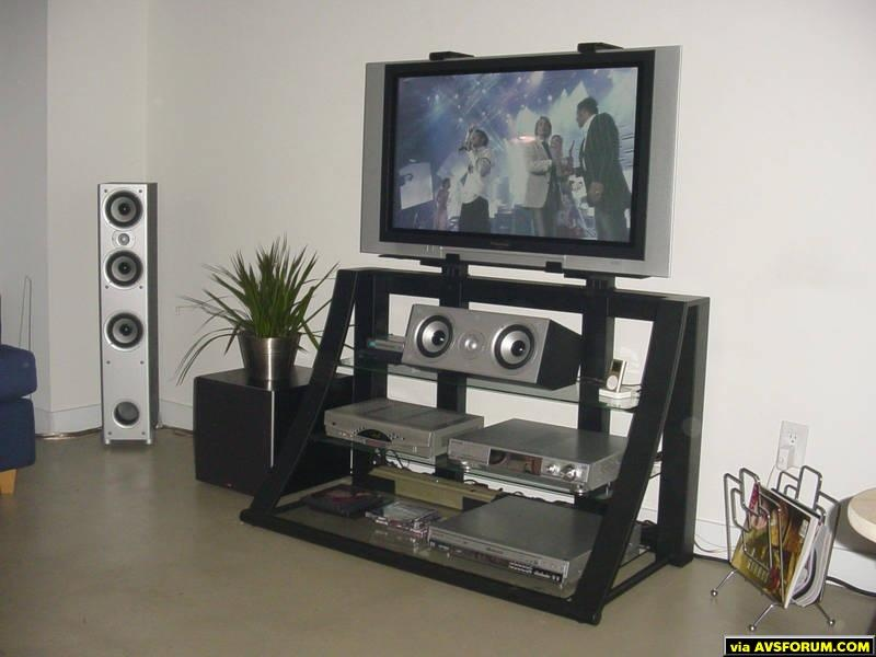 newbie here just finished putting together my first real system... Panasonic 37' Plasma, Panny digital receiver and DVD/CD changer and Polk audio system (Monitor 60s and CS1 in the front, RTi6 in the back and PSW404 for ooomph) and Ipod Mini...