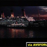 Titanic DVD projected on a Proxima DS-2 DLP projector.