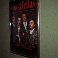 Goodfellas 22 x 34 poster matted in a silver and black finish $16 frame from Walmart.
