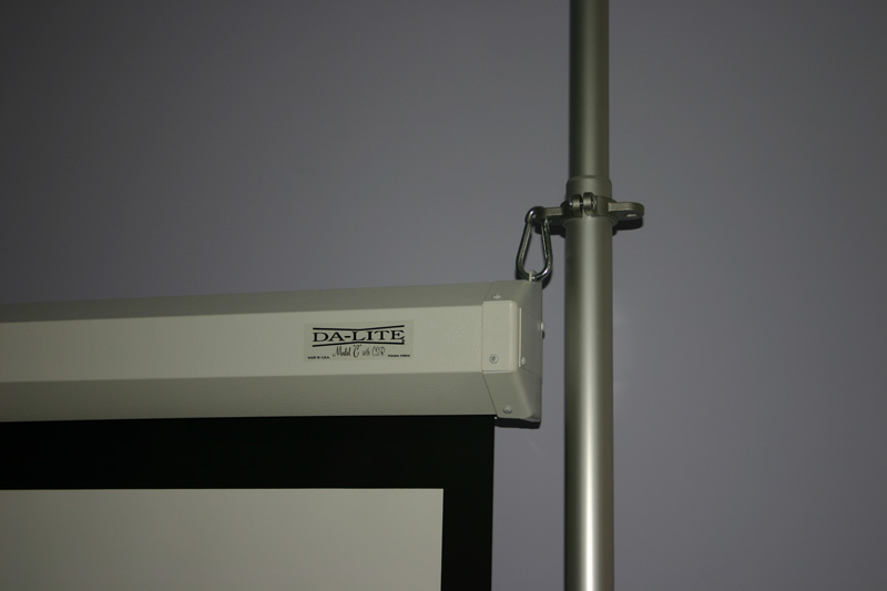 How To Hang Screen Without Wall Drilling Avs Forum