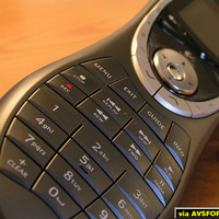 Closeup of the Logitech harmony 880.