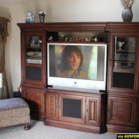 Samsung 507 in Hooker Montebello entertainment center