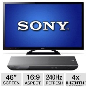 "Sony KDL46HX850 46"" WiFi 3D LED TV & WiFi 3D B-Ray"