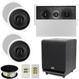 "5.1 Home Audio Speakers 4 Speakers, 1 Center, 8"" Powered Sub and More TS50CL51SET3"