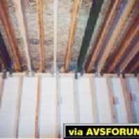 Here are many floating joists spaced in-between the old existing ceiling joists.