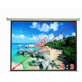 "Antra Electric Motorized 100"" 4:3 Projector Projection Screen Matte White"