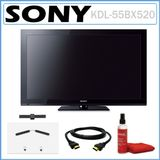 Sony BRAVIA KDL-55BX520 55-inch 1080p 120Hz LCD HDTV + PROFORMA TV Wall Mount + HDMI Cable + Screen Cleaning Kit
