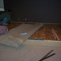Riser being carpeted 1.