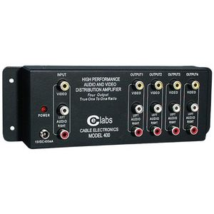 CE LABS AV 400 Prograde Composite A/V Distribution Amplifiers (1 input ¿ 4 output)