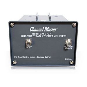 Channel Master CM 7777 TITAN2 UHF/VHF PREAMPLIFIER CM7777