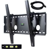 "VideoSecu Tilting Plasma TV Wall Mount LCD Monitor Bracket With Free 7ft HDMI Cable and 6"" 3-Axis Magnetic Bubble Level for Panasonic 37 42 46 50 '' inch TC-P42C2 TH-37PWD7UY TH37PWD8GK/S TC-37LZ800 TC-37LZ85 37PWD8GK/S TH37PWD8UK TH-37PWD8"
