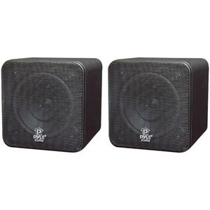 Pyle Home Mini-Cube Bookshelf Speakers
