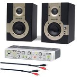 Samson Studio Monitors Mediaone 3A (Pair) with Multi Input / Multi Output Monitor Controller and Cable Kit