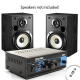 Mini Stereo 2x15W Power Amplifier with Speaker, Headphone and PA Output for Sony / Polk Audio / Pioneer / Audioengine / Dayton and Many More Bookshelf Speakers! **Cardreader Included **
