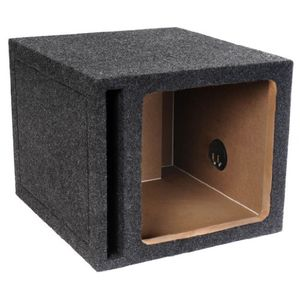 "Brand New Atrend 12SQKV Single 12"" Vented Square Solo Baric L7 Or L5 Car Subwoofer Enclosure With Heavy Duty 1"" High Density Mdf"