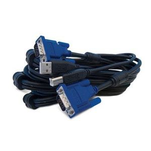 10' 2 in 1 USB KVM Cable