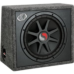 Kicker Solo Classic 09TS10C4  Single Subwoofer and Box 10-Inch 4-Ohm