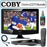 Coby TFTV1525 15.6 In. Wide Screen ATSC Digital LCD TV/Monitor Bundle With JWin JDVD522 5.1 Channel DVD Player & TV Accessories