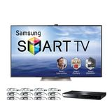 "Samsung UN75ES9000 75"" 240Hz 1080p LED Smart TV Bundle Includes FREE BDE5900 Blu-ray Disc Player and 8 Extra Pairs of 3D Glasses"