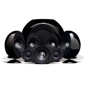 KEF KHT3005BL (SE) 5.1 Home Theater Speaker System (Gloss Black)