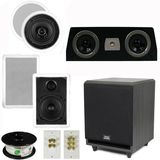 "5.1 Home Audio Speakers 4 Speakers, 1 Center, 8"" Powered Sub and More TS50CWC51SET3"