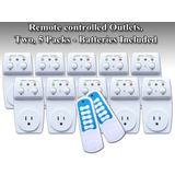 Wireless Remote Control Outlet Switch 120 watts Socket, Two 5 Packs (10 Outlets) ** BATTERY INCLUDED ** Designed for Appliances, Lamps, Air Conditioners, or any Electrical Equipment