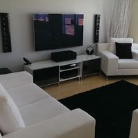 New modern couches, Media cabinet