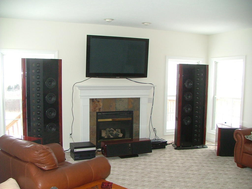 Center Channel Speaker Where To Put It With Wall Mounted