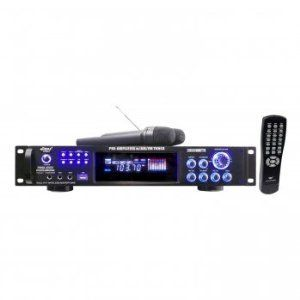 Pyle 3000 Watts Hybrid Pre-Amplifier w/AM-FM Tuner/USB/Dual Wireless Mic