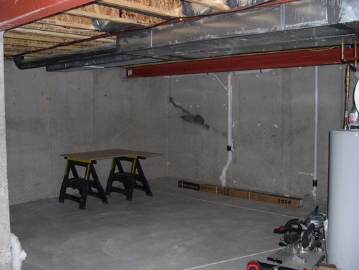 My home theater basement finish project avs forum home for Slab vs crawl space