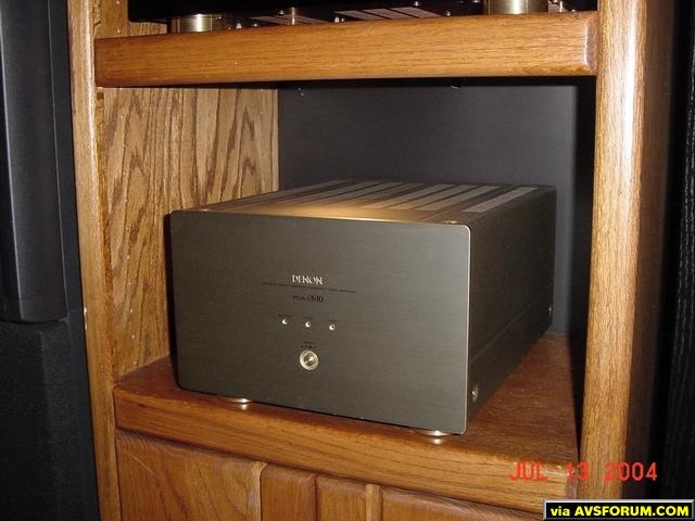 1 of 2 Denon POA-S10 mono amps for main Carver AL-III ribbon speakers.