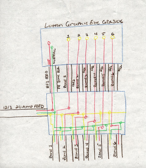 Wiring For Lutron Graphic Eye