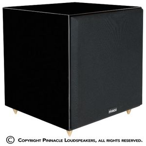 Pinnacle Speakers Sonic 500 12-Inch 500 Watt Powered Subwoofer (Piano Lacquer Black)