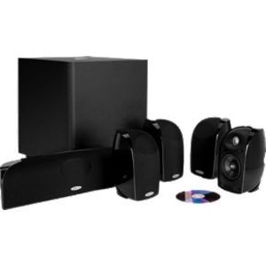 Polk Audio TL2600 Speaker System (Set of Six, Black)