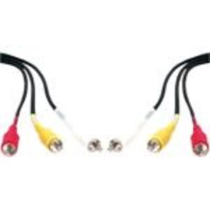 QVS RCA3AV-06 Triple RCA Composite Audio/Video Cable - 6 Foot