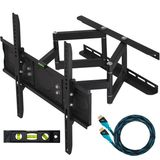 "Cheetah Mounts 32""-55"" Articulating LCD TV Wall Mount Bracket with Full Motion Swing Out Tilt & Swivel Dual Arms for Flat Screen Flat Panel LED Plasma Displays"