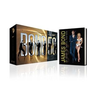 Bond 50: The Complete 22 Film Collection (with Limited Edition Hardcover Book) [Blu-ray]