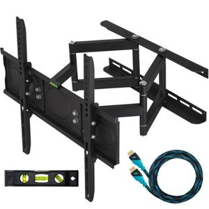 Cheetah Mounts 32&quot;-55&quot; Articulating LCD TV Wall Mount Bracket with Full Motion Swing Out Tilt &amp; Swivel Dual Arms for Flat Screen Flat Panel LED Plasma Displays
