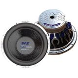 Pyle PLWB105 10-Inch 600W 4 Ohm Blue Wave Flame Series Chrome Subwoofers