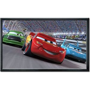 "Maxstar Screens Premier 100"" 16:9 Fixed Frame Projector Screen with Black Velvet Frame"