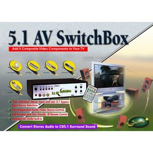 JATON ALL IN 5.1 SS SBOX 5 AV IN 1 AV OUT W REM