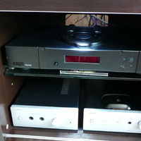 Rega Planet cd player. Music hall 25.2 DAC and Music hall head phone amps (hybrid tube and SS)