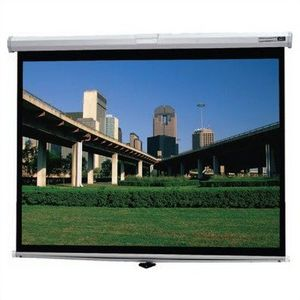 Dalite Deluxe Model B Video Format Tensioned Manual 43 X 57 Inch Matte White Projection Screen
